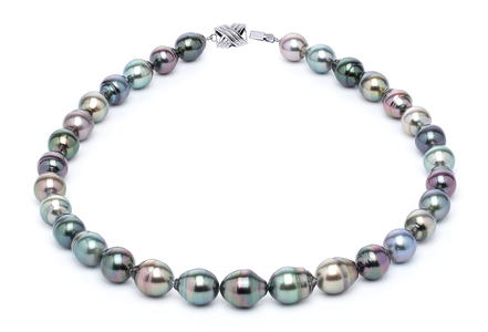 10 x 12mm Tahitian Pearl Necklace Serial Number | s10-multi-color-b28