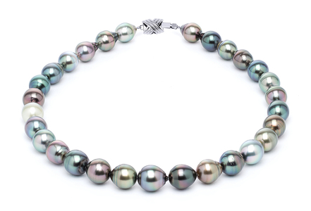 11 x 13mm Tahitian Pearl Necklace Serial Number | s10-multi-color-b29