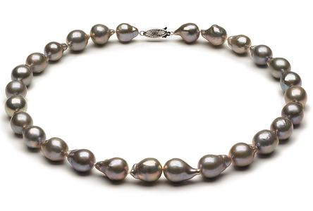 10mm Grey Baroque Choker