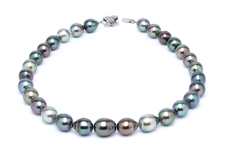 11 x 13mm Tahitian Pearl Necklace Serial Number | s10-multi-color-b32