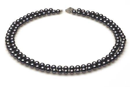 Double Strand Black Necklace