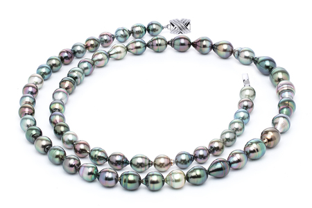 10 x 12mm Tahitian Pearl Necklace Serial Number | s10-multi-color-b41