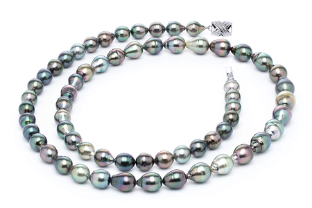 10 x 12mm Tahitian Pearl Necklace Serial Number | s10-multi-color-b43