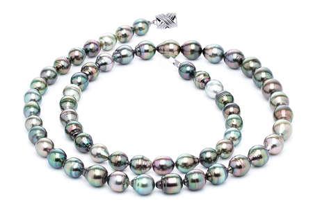 11 x 13m Tahitian Pearl Necklace Serial Number | s10-multi-color-b44