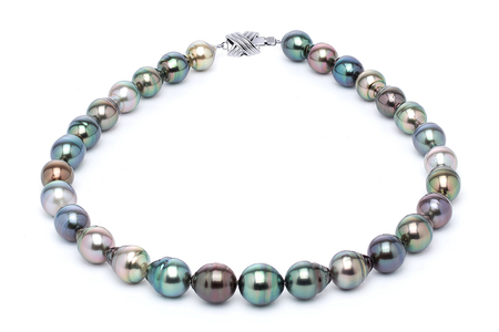 11 x 13mm Tahitian Pearl Necklace Serial Number | s10-multi-color-b33