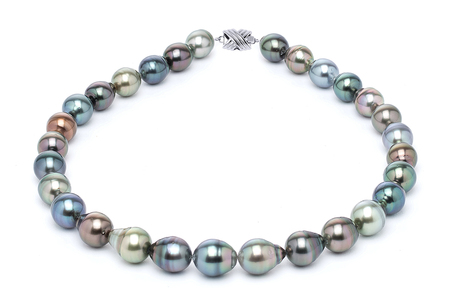 11 x 13mm Tahitian Pearl Necklace Serial Number | s10-multi-color-b35