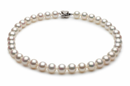 9.5 x 10mm White High Grade Freshwater Pearl Necklace