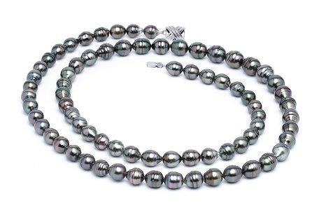 8 x 10mm Tahitian Pearl Necklace Serial Number | s11-dark-color-b39
