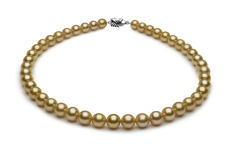 7.7 x 10mm Golden Pearl Necklace Serial Number | s8-dr02217g-b7