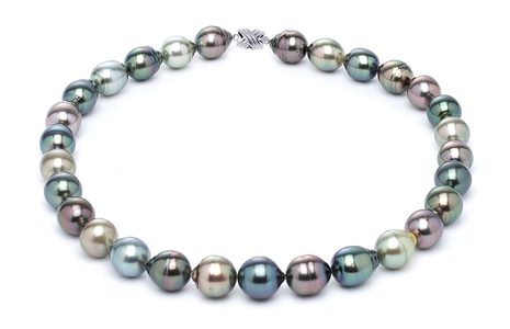 11 x 13mm Tahitian Pearl Necklace Serial Number | s10-multi-color-b31