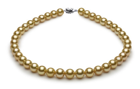10 x 11.1mm Golden Pearl Necklace Serial Number | s8-sn01924g-b13