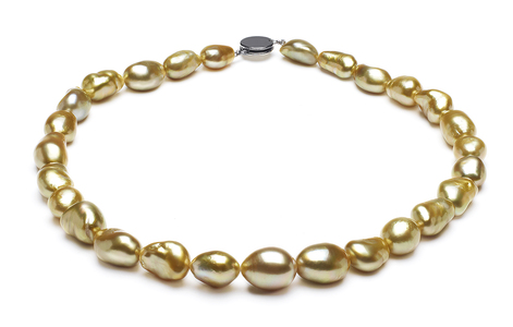 Golden Pearl Necklace Serial Number | 9-4mm-12-7mm-golden-pearl-necklace-keshi-south-sea-true-aaa-16inch-s5-kys1021-b143