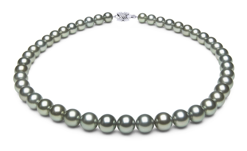 8.2 x 9.9mm Grey Tahitian Pearl Necklace