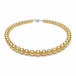 7.1 x 10.1mm Golden Pearl Necklace Serial Number | s9-ra01874g-b37
