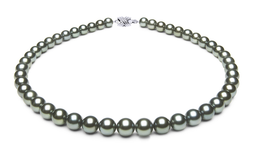 8 x 9.9mm Blue Tahitian Pearl Necklace