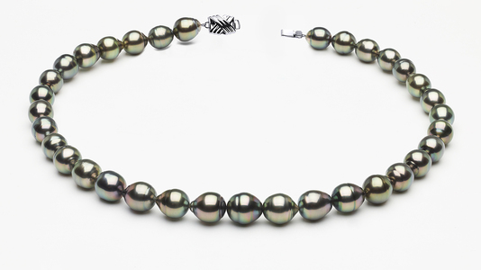 9 x 11mm Tahitian Pearl Peacock Baroque Necklace | Serial Numbers8-clabc-peacock-color-b59