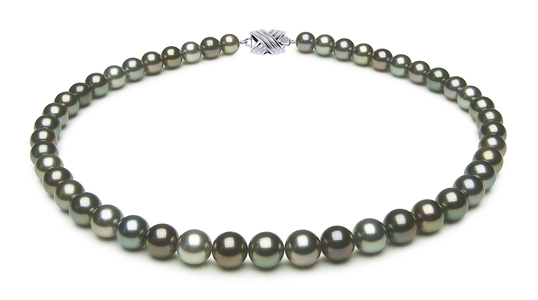8.3 x 9.4mm Multicolor Tahitian Pearl Necklace