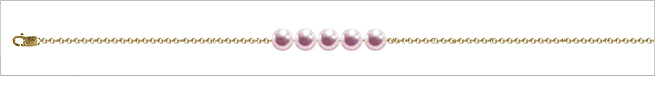 AAA Quality Add Pearl Necklaces—5 Pearl