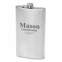 12 Ounce Engraved Stainless Steel Flask