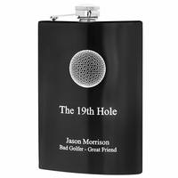 19th Hole Engraved Golf Hip Flask