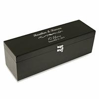 Anniversary Gift  Black Wine Box