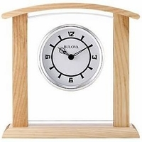 Athena Desktop Clock By Bulova