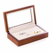 Cherry Wood Cufflinks Box