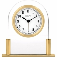 Colburn Glass Desktop Clock By Bulova