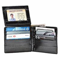 Eel Skin L Shaped Bifold Wallet