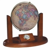 Executive Desk Globe & Clock by Replogle Globes