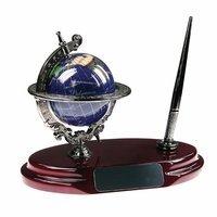 Gemstone Globe Desktop Pen Stand