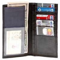 Leather Checkbook Wallet & Organizer