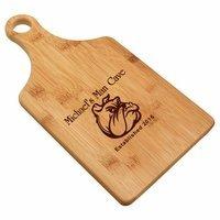 Man Cave  Bamboo Paddle Shape Cutting Board