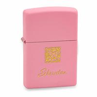 Monogrammed Pink Matte Zippo Lighter