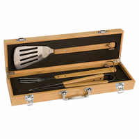 Personalized Bamboo BBQ Set