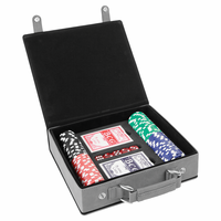 Personalized Gray & Black 100 Chip Poker Set