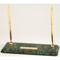 Personalized Green Marble Desktop Pen Stand