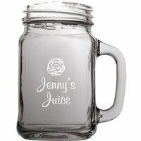 Personalized Juice Theme 22 Ounce Mason Jar