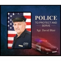 Personalized Police Picture Frame - Discontinued