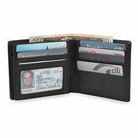 RFID Blocking Bifold Credit Card Wallet With Center ID Flap