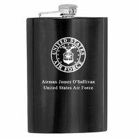US Air Force Engraved  Steel Flask