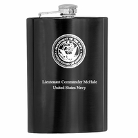 Personalized US Navy Flask