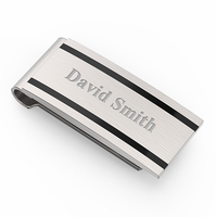 Vex Engraved Spring Loaded Money Clip