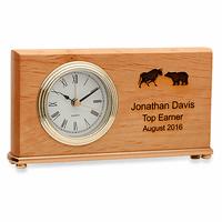 Wall Street Symbol Desk Clock