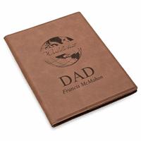 World's Best Dad Brown Leatherette Mini Portfolio
