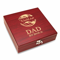 World's Best Dad  Flask & Gaming Set