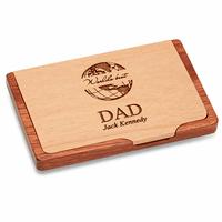 World's Best Dad  Pocket/Desktop Business Card Holder