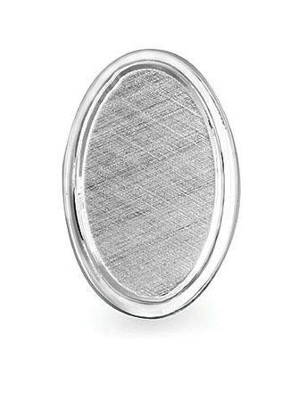 Antiqued Sterling Silver Engravable Tie Tack
