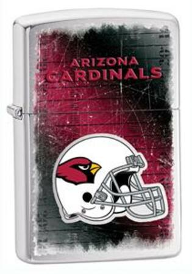Arizona Cardinals NFL Brushed Chrome Zippo Lighter - ID# 28202
