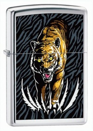 BS Midnight Terror High Polish Chrome Zippo Lighter - ID# 24515 - Discontinued